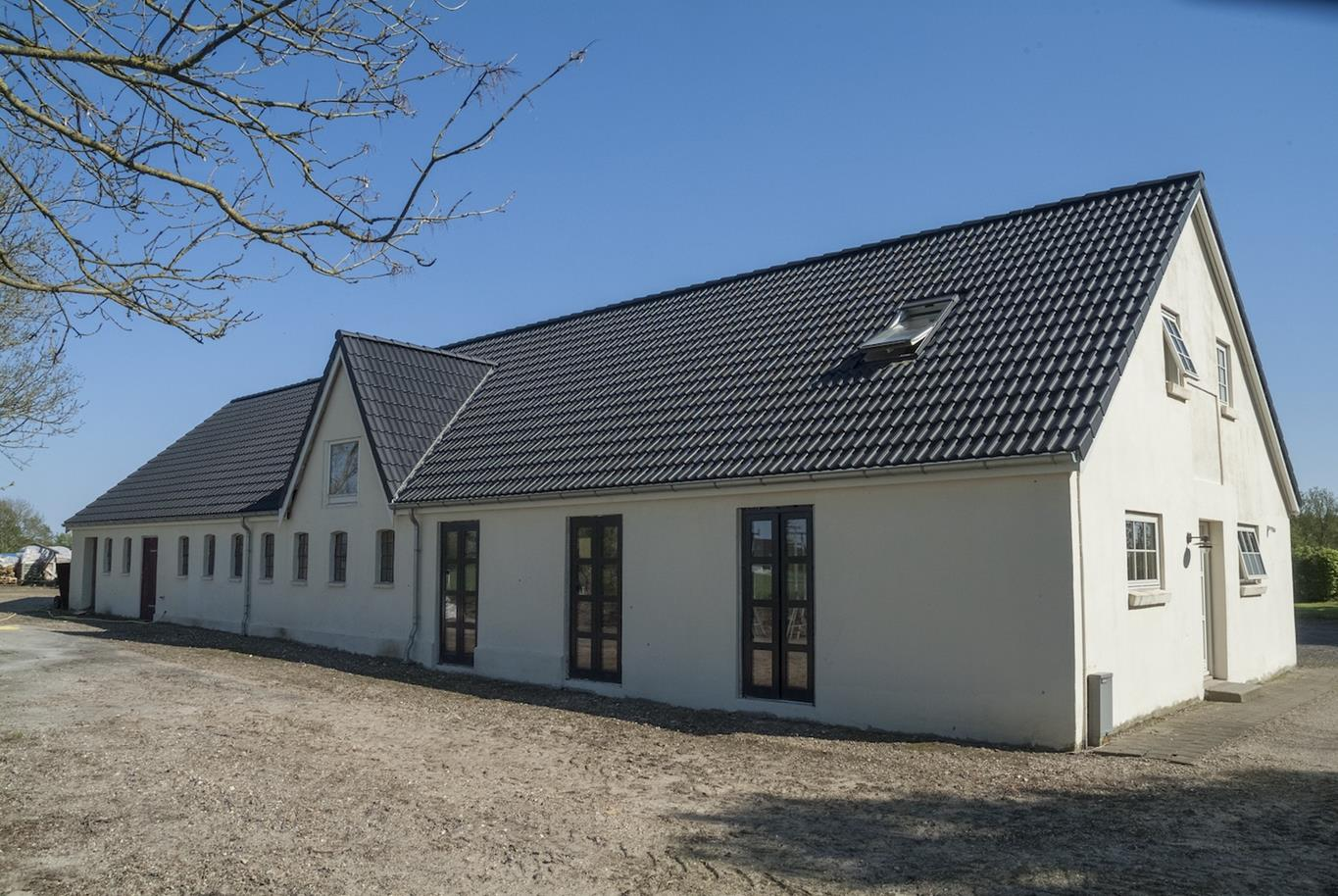 Lightweight concrete tiles on a pitched roof