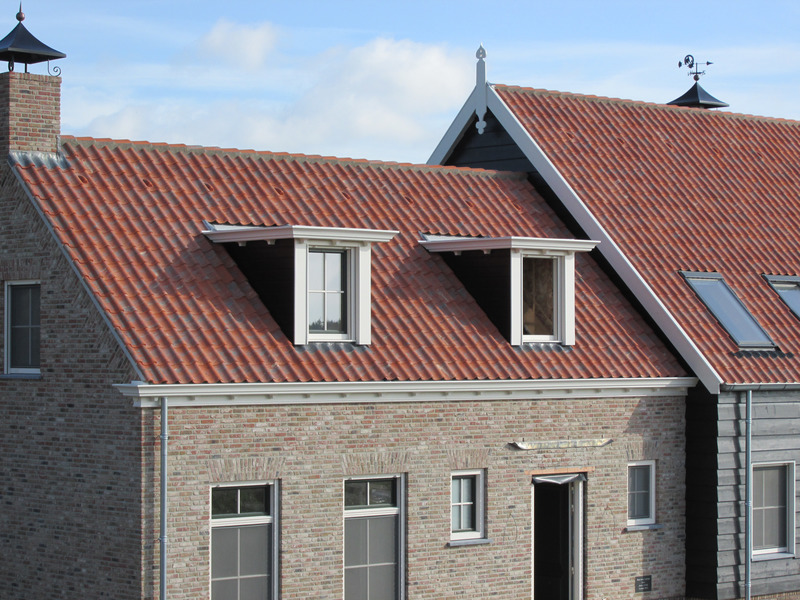 Clay tiles on a pitched roof