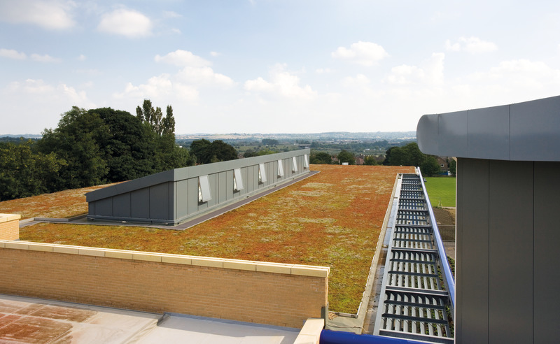 Roof with rooflights and/or solar panels or image of garden roof