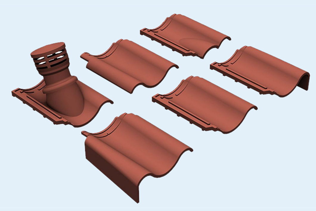 Roof tile BIM objects