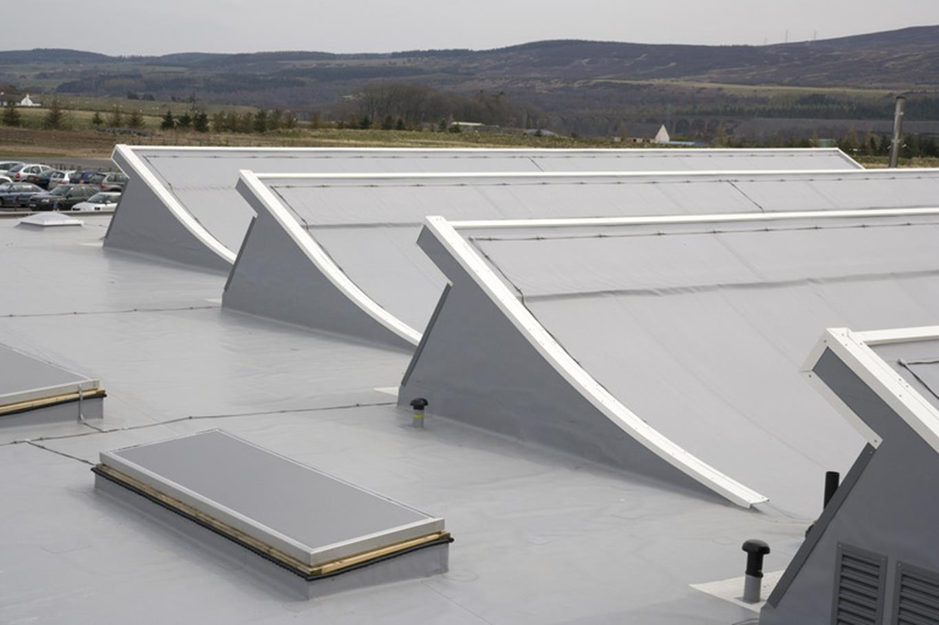 Membrane product being tested to extremes or in extreme weather, or a robust-looking roof