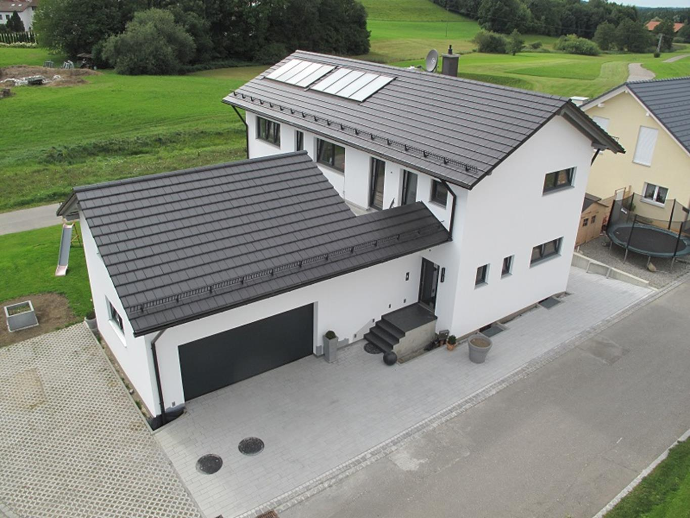 Image of house with solar panels
