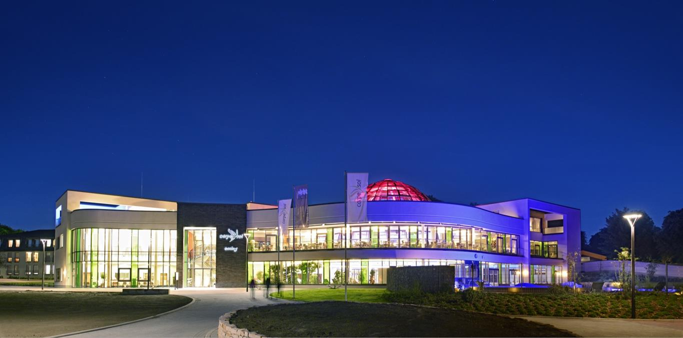 Brightly lit conference centre