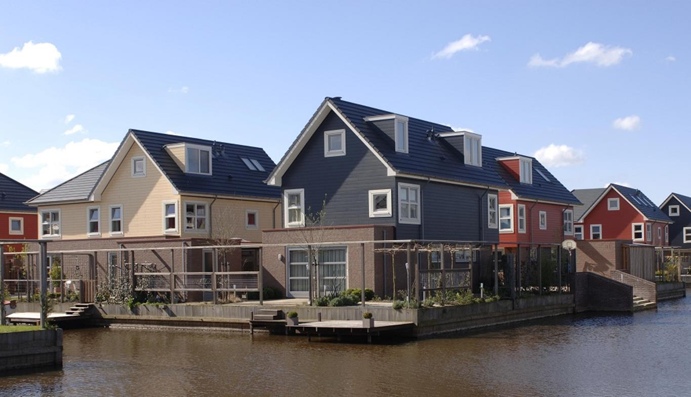 Housing development with concrete tiled roof