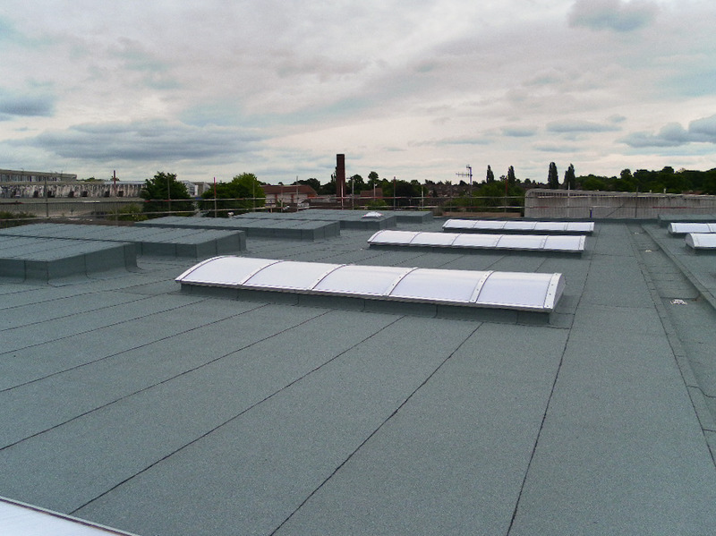 Rooflights on a flat roof